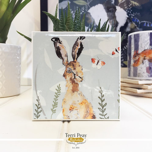 'Hare & Butterfly' Coaster