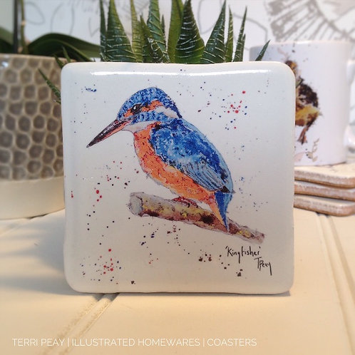 Hand Crafted 'Kingfisher' Coaster