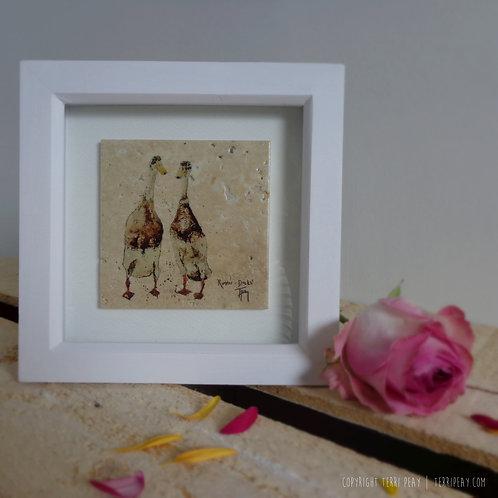 Framed 'Runner Ducks' Tile