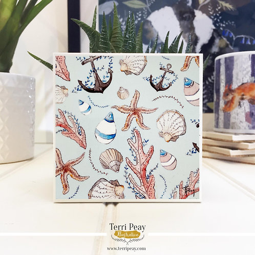 'Nautical Blue' Hand Crafted Coaster