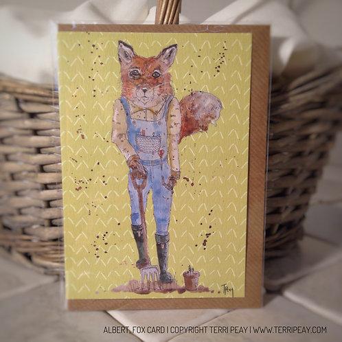 'Albert, Fox' Card