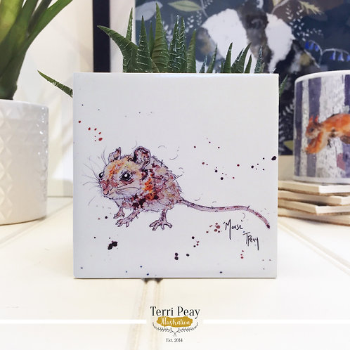 Hand Crafted 'Mouse II' Coaster
