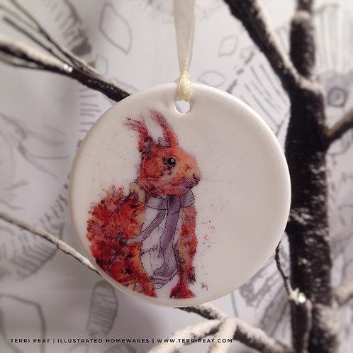 'Winter Squirrel' Decoration