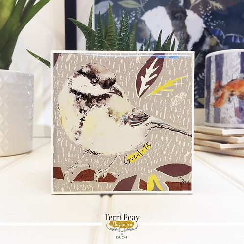Hand Crafted 'Great-Tit' Coaster