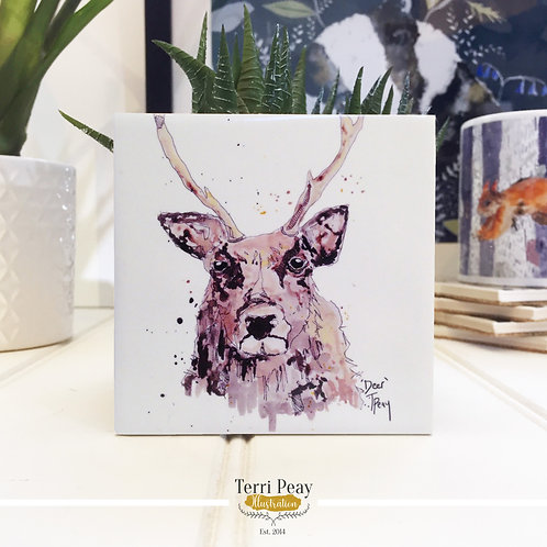 Hand Crafted 'Deer' Coaster