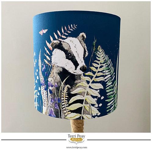 'Woodland Badger' Lampshade