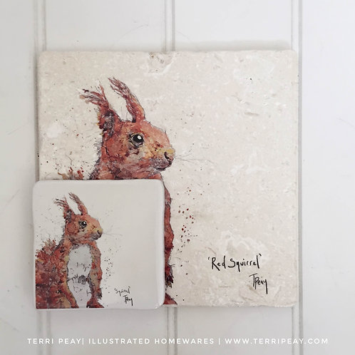 Placemat & Coaster Gift Set- 'Red Squirrel'