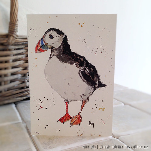 'Puffin' Card