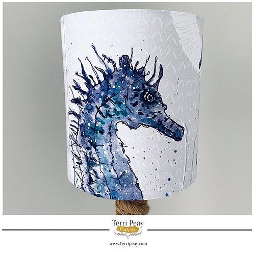 'Ocean Seahorse' Blue Lampshade