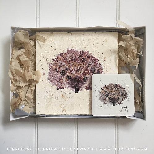 Placemat & Coaster Gift Set- 'Hedgehog'