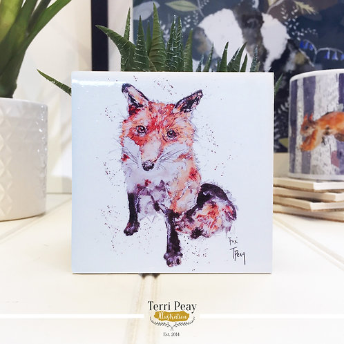 Hand Crafted 'Fox' Coaster