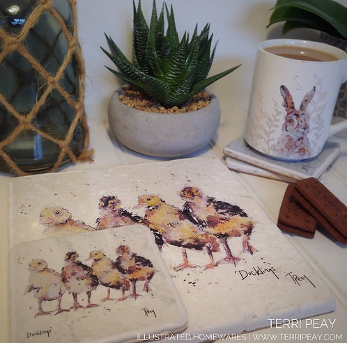 Handcrafted 'Four Ducklings' Placemat