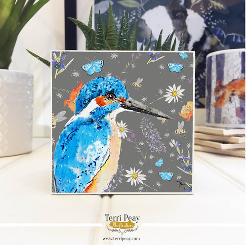 'Wild Kingfisher' Hand Crafted Coaster
