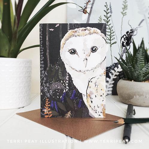 'Moonlit Owl' Card