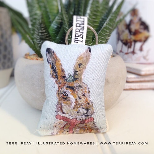 'Winter Hare' Keyring
