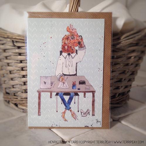 'Henrietta, Hen' Card