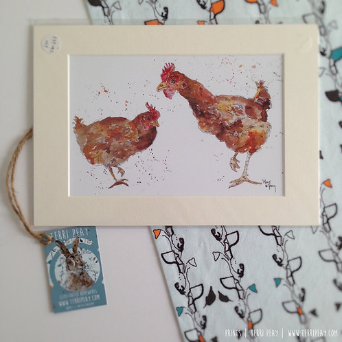 'Hens' Print