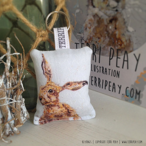 'Inquisitive Hare' Keyring