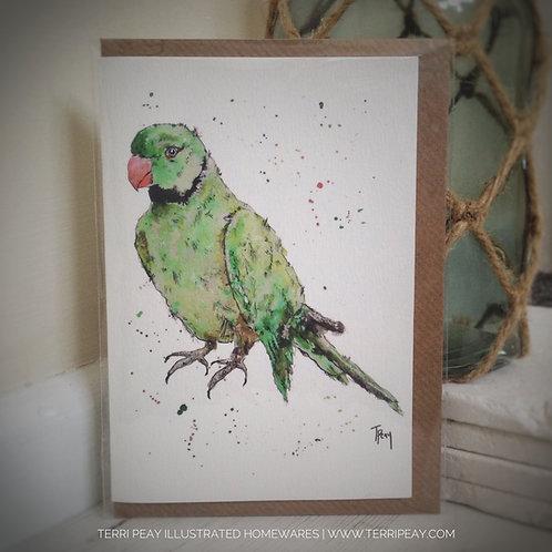 'Ring-Necked Parakeet' Card