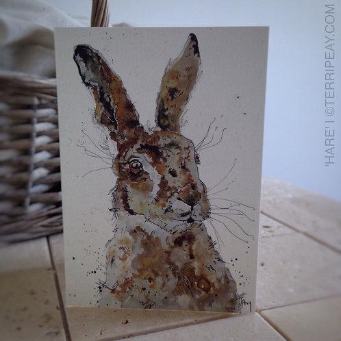 'Hare' Card