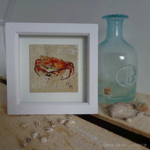 Framed 'Crab' Tile