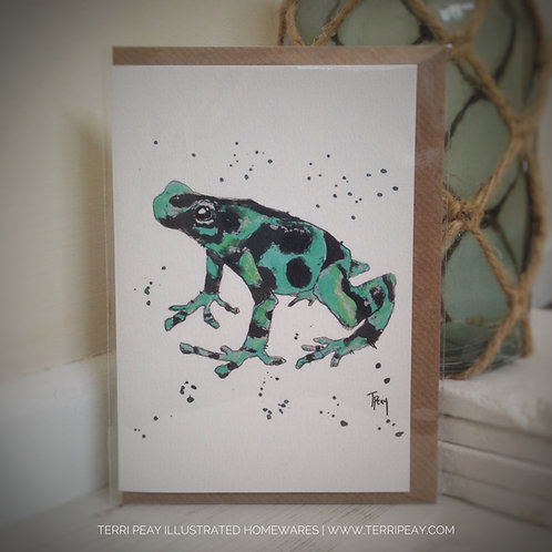 'Dart Frog' Card