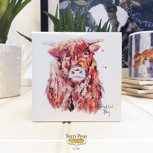 Hand Crafted 'Highland Cow' Coaster