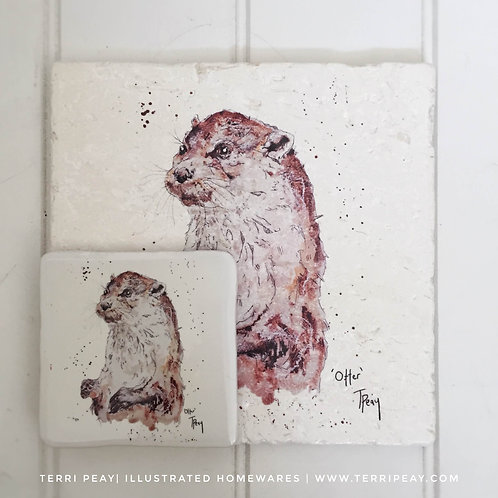 Placemat & Coaster Gift Set- 'Otter'