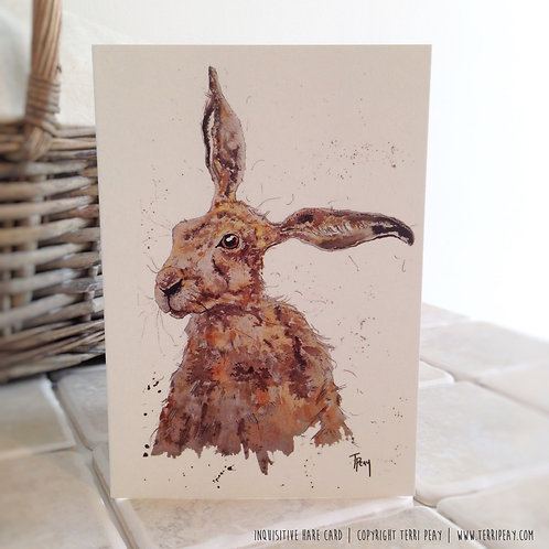 'The Inquisitive Hare' Card