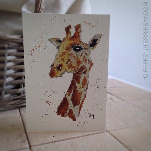 'Giraffe' Card