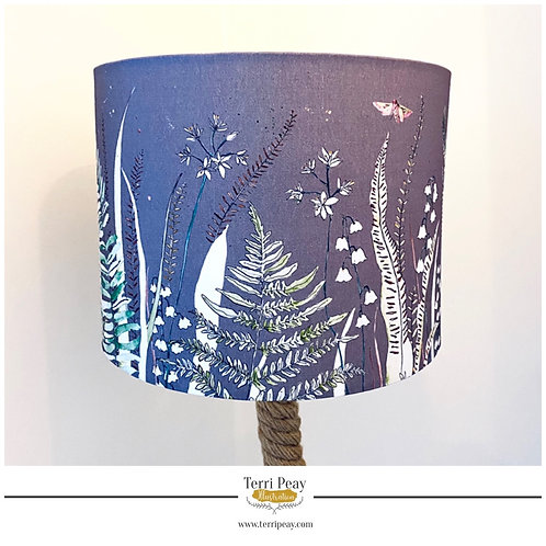 'Wild Woodland' Grey Lampshade