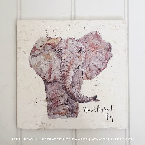 Handcrafted 'African Elephant' Placemat