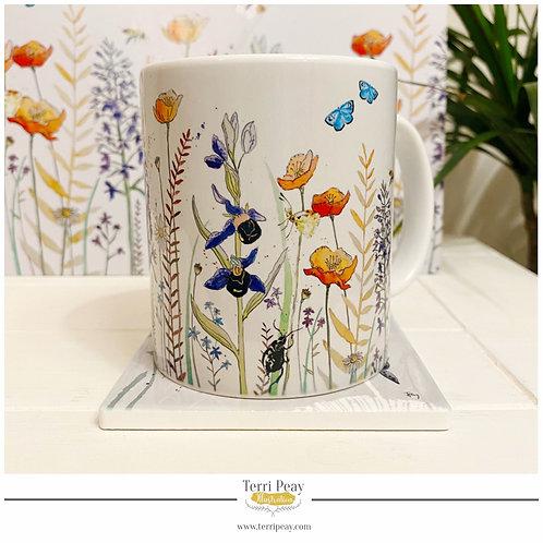'British Wild Flowers' Mug