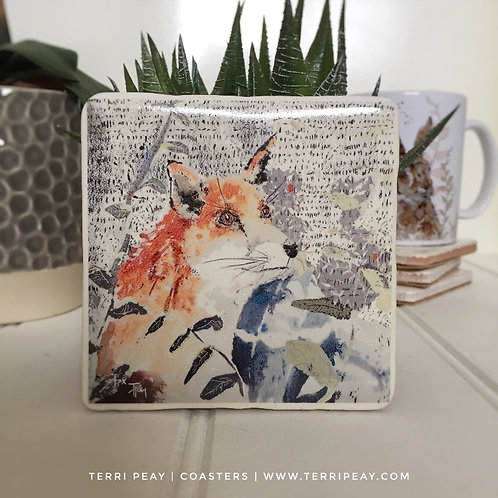 'The Gazing Fox' Coaster