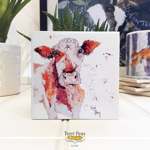 Hand Crafted 'Brown Cow' Coaster