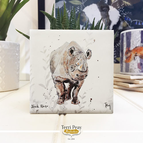 'Black Rhino' Coaster