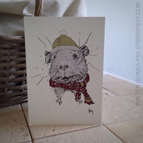 'Winter Guinea-Pig' Card
