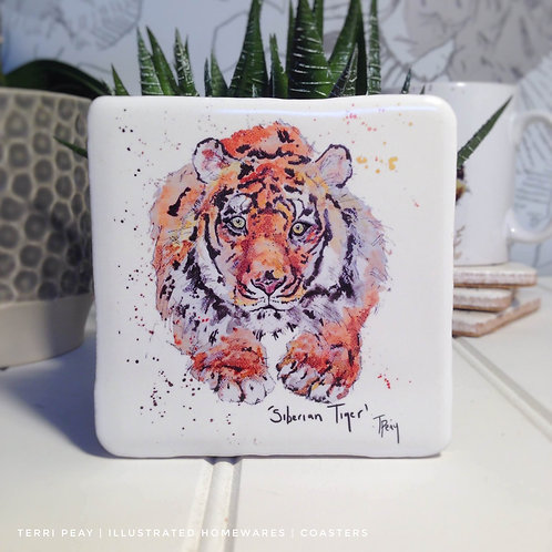 Hand Crafted 'Tiger' Coaster