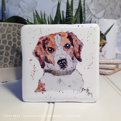 Hand Crafted 'Beagle' Coaster