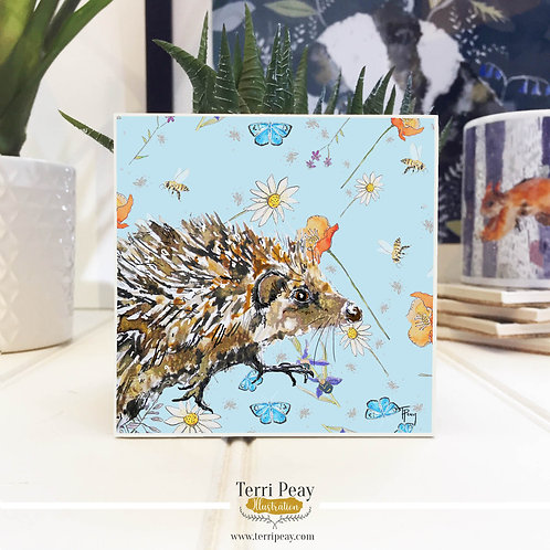 'Wild Hedgehog' Hand Crafted Coaster