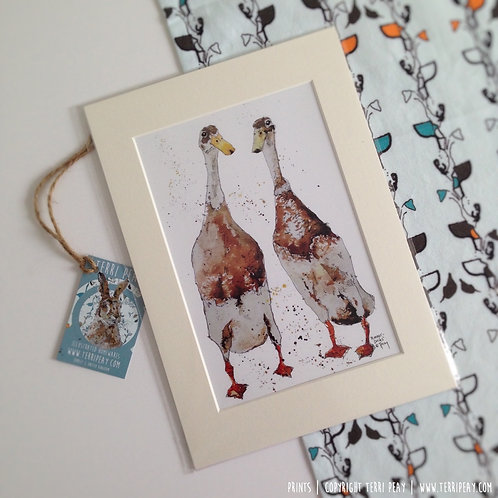 'Runner Ducks' Print