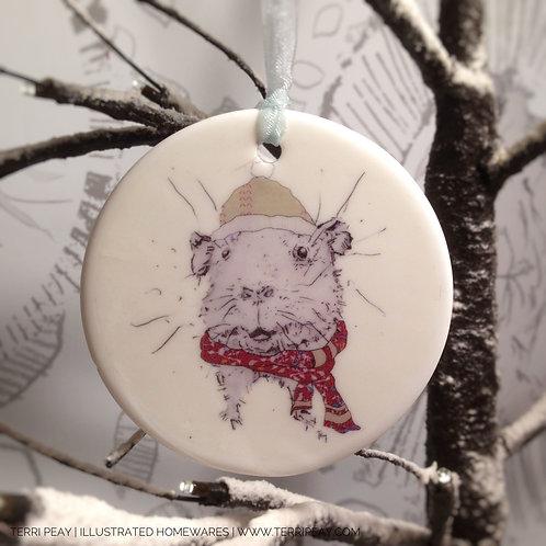 'Winter Guinea-Pig' Decoration