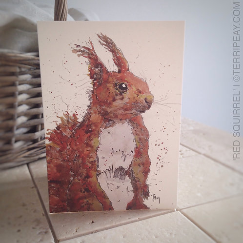'Red Squirrel' Card