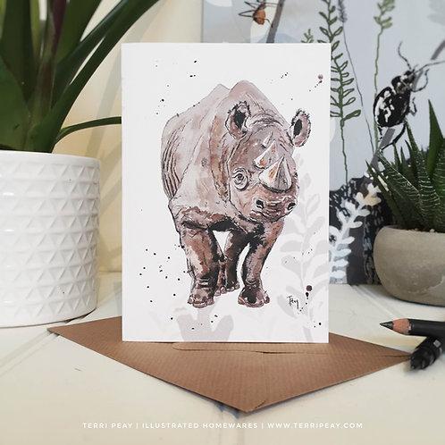 'Black Rhinoceros' Card