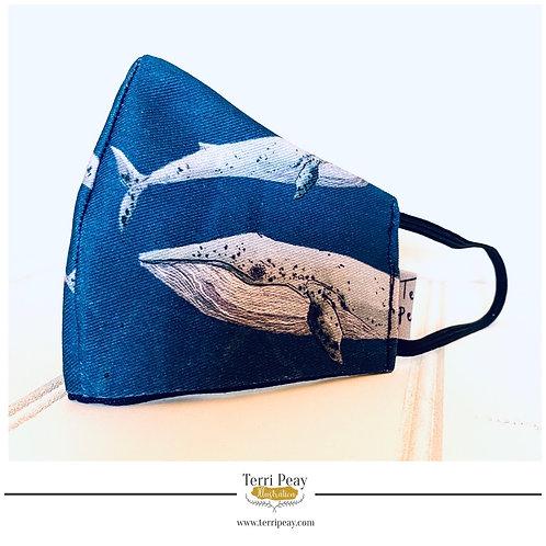 Blue Whale Face Mask