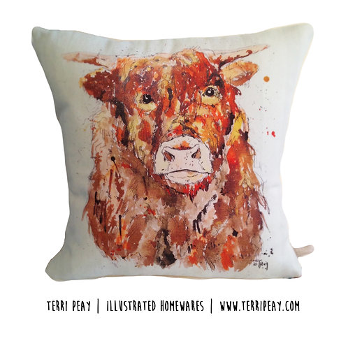'Highland Cow' Cushion