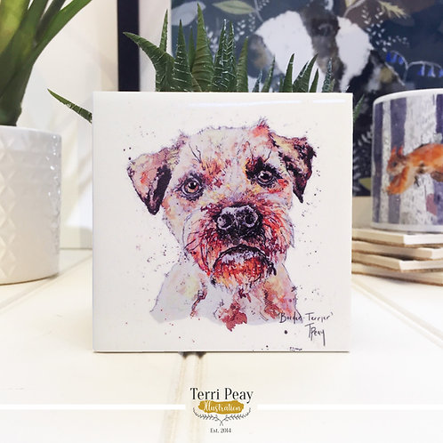 Hand Crafted 'Border Terrier' Coaster