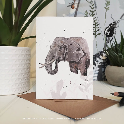 'African Elephant II' Card