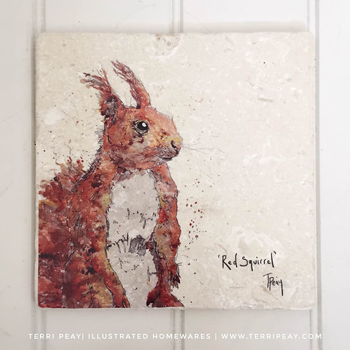 Handcrafted 'Red Squirrel' Placemat