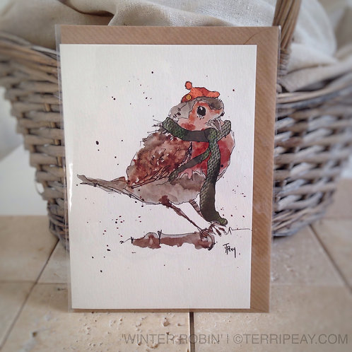 'Winter Robin' Card